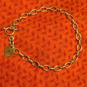 Juicy couture large pink gold necklace